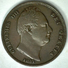 1831 Copper Farthing William IV Great Britain UK Coin XF