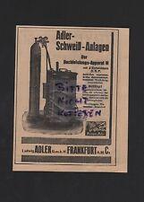 FRANKFURT/MAIN, Werbung 1929, Ludwig Adler GmbH Schweiß-Anlagen