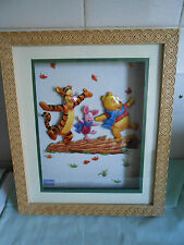 Framed Winnie the Pooh and friends 3D picture - perfect for nursery