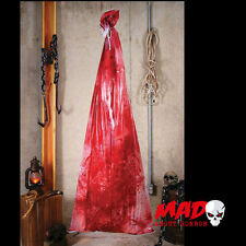Bloody Body in a Bag - Halloween Torture Chamber /Dungeon Decoration/Prop SCARY!