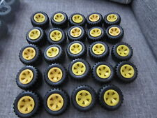 """Meccano Erector Set 24 Wheels Yellow 1 7/8"""" approx England More Available"""