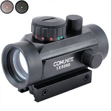 COMUNITE 1X 30 Tactical Holographic Reflex 5 MOA Green Red Dot Sight Scope Mount