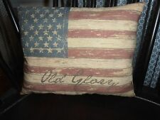 "PrimiTive AmeriCana HandmaDe Old Glory Flag Pillow RusTic Country DecoR 10""by 8"""