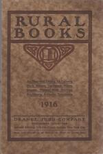 Catalog Orange Judd Books~How-To~Farming~Gardens~Fruit~Florists 1916 Free Ship