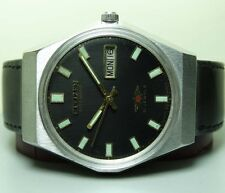 VINTAGE CITIZEN AUTOMATIC DAY DATE MENS WRIST WATCH 20101353 USED ANTIQUE G454