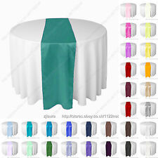 Top quality silk-like satin table runner wedding party banquet venue decoration