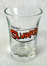 "Shot Glass Shooter Jigger SLURRED ""iParty Hard"" ICARD Flared Rim 2-3/8 inch"