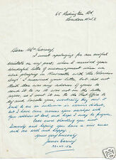 James Carney Actor Gift Horse Glorious Days Vintage 1952 Hand signed Letter