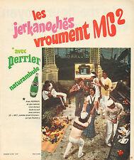 Publicité Advertising 1973  PERRIER eau gazeuse 100% naturelle ....