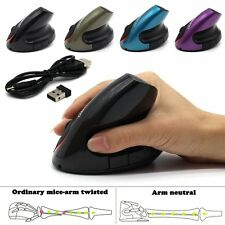 2.4 GHz USB Wireless Ergonomic Vertical Optical Mouse 2000 DPI for Computer PC