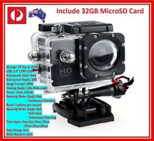 Include 32GB Card Waterproof Sports Action Video Camera 1080p TRUE HD GoPro