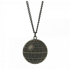 STUNNING OFFICIAL STAR WARS DEATHSTAR PENDANT AND CHAIN NECKLACE *BRAND NEW*