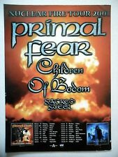 PUBLICITE-ADVERTISING :  NUCLEAR FIRE TOUR  2001 Primal Fear,Children Of Bodom