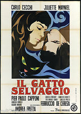 IL GATTO SELVAGGIO MANIFESTO CINEMA CAPPONI FREZZA THE WILDCAT MOVIE POSTER 4F