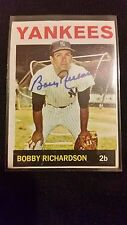 BOBBY RICHARDSON 1964 TOPPS YANKEES LEGEND AUTHENTIC SIGNED AUTOGRAPHED CARD