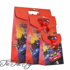 6 X Medium Disney Cars Paper Loot Lolly Bags. Favour Boys Party McQueen