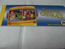 "Cheque Book Of Promises ""School Cheques"" Birthday/Gift. Free P&P"
