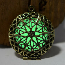Fashion Jewelry Glow in the Dark Necklace Pendant Chain Charm Hollow Pendant Hot
