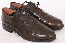 ROCKPORT Mens 10 10.5 W Brown Leather OXFORD Brogue LACE UP Vintage Formal Shoes