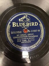 Dick Todd The Singing Sands of Alamosa/My Great, Great Grandfather Record #11557