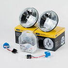 "5 3/4"" Round Sealed Beam Headlamp Conversion with 2 DOT Super White Bulbs H5006"