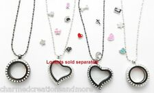 5pc Wholesale Lot Of Floating Charms For Living Memory Lockets