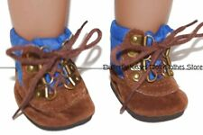 Blue/Brown Hiking Boots Doll Clothes Made For 18 in American Girl Boy Dolls