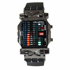 Unique Led binary watch Date Time Mens Fashion Casual Sport Wrist watches