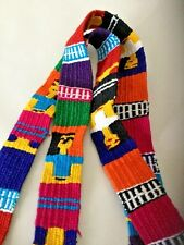 Vintage Colorful Handcrafted Mexican Sash Belt Accessory