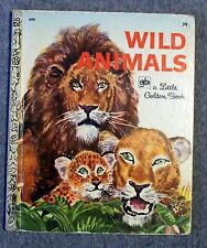 WILD ANIMALS Feodor Rojankovsky LITTLE GOLDEN BOOK Children's KIDS Illustrated