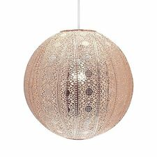 MOROCCAN STYLE CHANDELIER COPPER CEILING LIGHT SHADE UNIVERSAL FITTING - 30CM