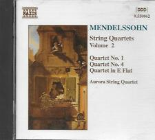 CD album: Mendelssohn: String Quartets Vol.2. Aurora String Quartet. naxos. M