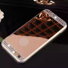 Luxury Bling Transparent Mirror TPU Soft Gel Back Phone Accessories Case Cover