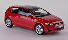 wonderful modelcar VOLKSWAGEN  VW GOLF VII 2013 3-DOOR - red  - scale  1/43