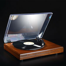 HiFi Stereo Turntable Retro LP Vinyl Record Player with Phono Pre-Amplifier 220V