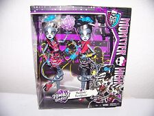MONSTER HIGH ZOMBIE SHAKE MEOWLODY & PURRSEPHONE GIFT SET OF TWO NEW