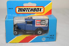 MATCHBOX MB38 MB 38 FORD MODEL A VAN CHAMPION MINT BOXED