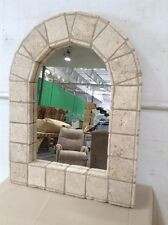 Old world style tile frame mirror Lot 2567