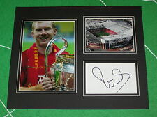 Paul Scholes Signed Manchester United FC 2008 Champions League Final Mount