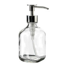 Ikea BESTAENDE Liquid Soap Detergent Dispenser Clear Glass