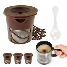3Pcs Coffee Filters Tea Pods K-Cups Refillable Filter