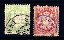 GERMAN STATES-BAVARIA-GERMANIA ANTICHI STATI-BAVIERA-1867-Stemma. Stampa in rili