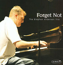Forget Not  Stephen Anderson Jazz Piano (CD)  SIGNED