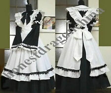 Gothic Lolita Cosplay Costume Home Maid Dress custom made full length