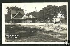 Alta Gracia rppc Railway Station Cordoba Argentina 40s