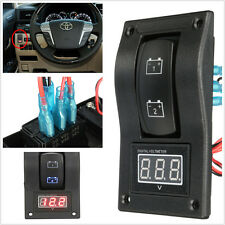 Dual Battery Test Panel Digital Voltmeter Battery Test Rocker Switch ON-OFF-ON