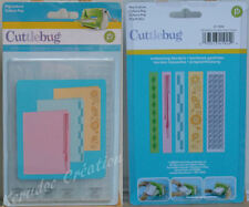 5 CUTTLEBUG Bordures Gaufrées CULTURE POP cartes scrapbooking modern déco
