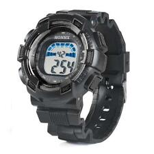 Sport Mens Watches Waterproof LED Digital Date Alarm Army Wrist Watch Black