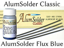 AlumSolder - SET of RODS and FLUX - easy ALUMINIUM WELDING, see TUTORIAL VIDEO