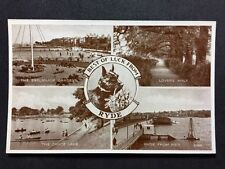 Vintage Postcard - Isle Of Wight #A13 - RP Best Of Luck - Ryde Multi View Dog